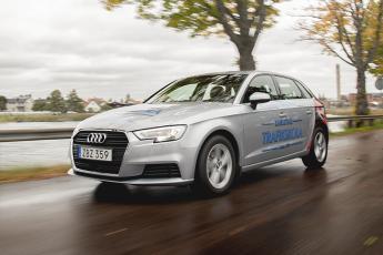 Som övningsbil använder vi oss av Audi A3. En mycket trevlig bil, som alla elever uttryckligen prisar.
